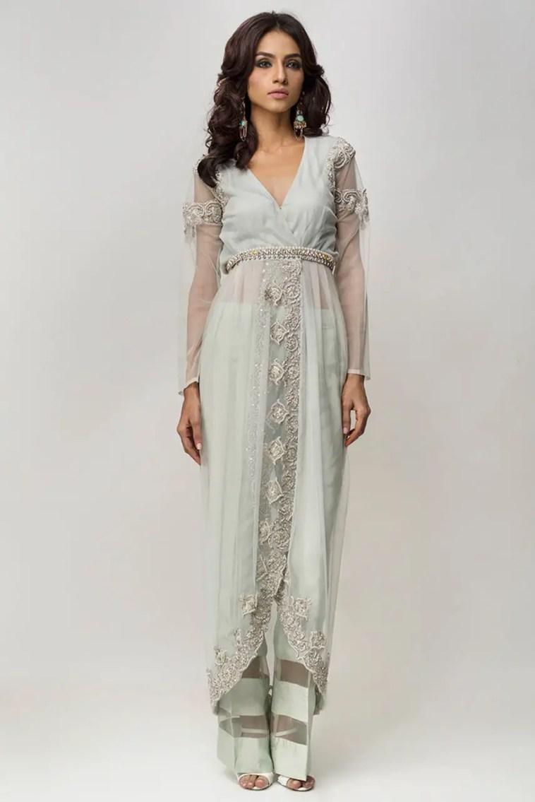 Ravish Ice Blue Ready To Wear 2 Piece Pret Dress By Deepak Perwani