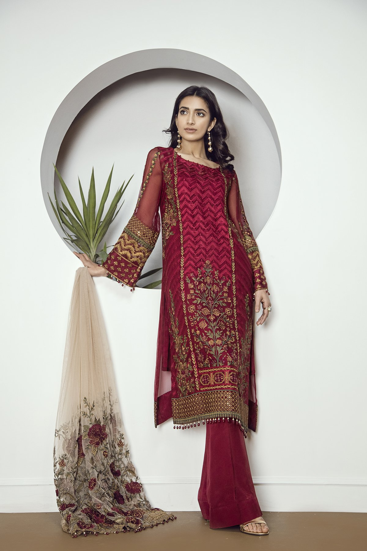 1d44749373 Mint 3 piece dress stitched pret wear by Baroque Chantelle evening wears  2018 - Online Shopping in Pakistan