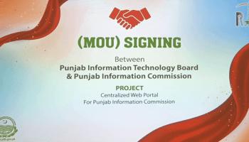 MOU-PITB-Punjab-Information-Comission