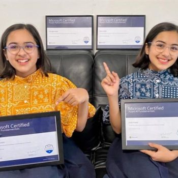 Twin sisters from Pakistan become the most junior to made Azure AI certification