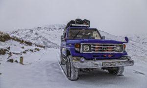 Crossing Deosai in Snow Season