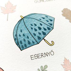 Öltözködő print - esernyő