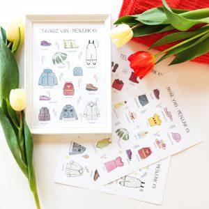 Öltözködő print csomag lány, borító