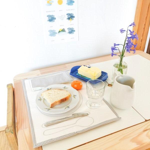 Montessori alátét használatban kisasztalon