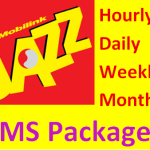 Jazz SMS Packages of Daily, Weekly, Monthly