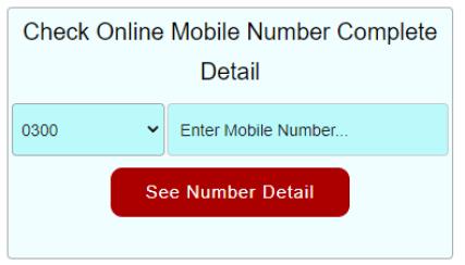 Mobile Number Detail Check Online