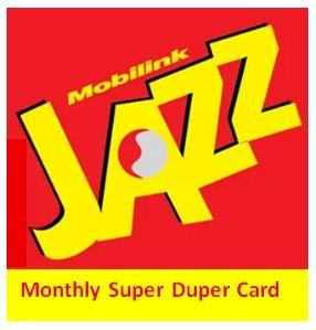 Jazz Monthly Super Duper Card Offer