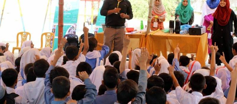 Fun Science Show and hands-on activity in Rahat-e-Islamia GOVT School