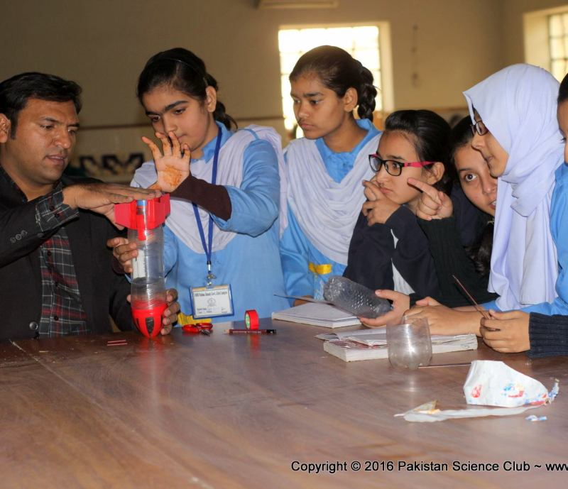 Water rocket training workshop at SMB Fatima Jinnah govt girls