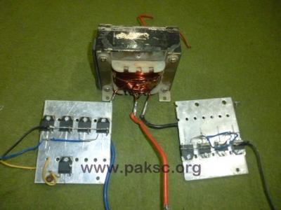 500 Watt 12 VDC to 220 VAC Power Inverter (UPS) Construction