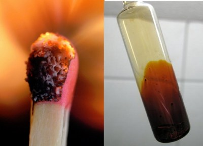 Decolorization of Iodine Solution by Match Heads