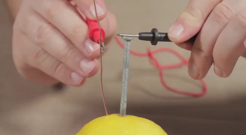 How can electricity be produced by a lemon?