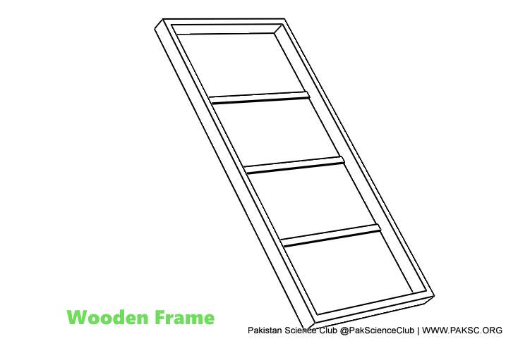 wooden frame of Solar water heater