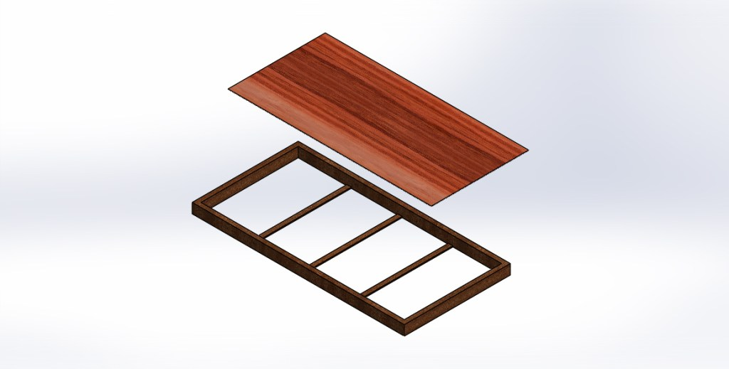 Fixing wooden hard sheet to frame