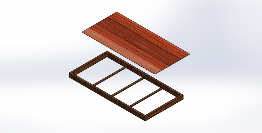 Fixing wooden hard sheet to frame