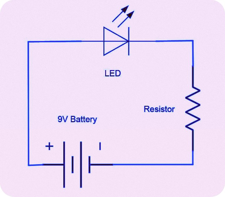 9 volt led circuit diagram electrical wiring diagram rh electricalbe co