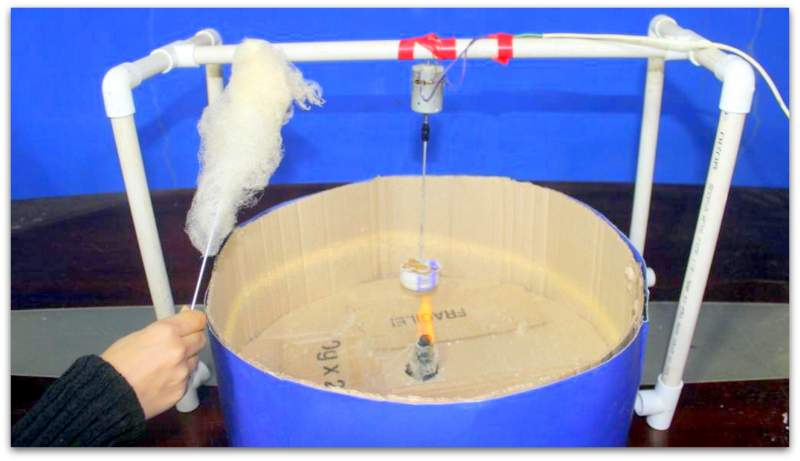 "Working model of science project ""cotton candy machine"""