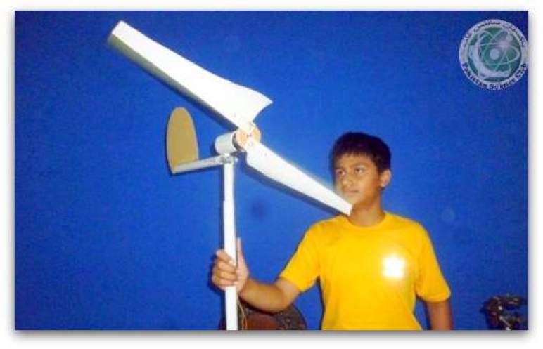 "Working Model of science project ""wind turbine"""