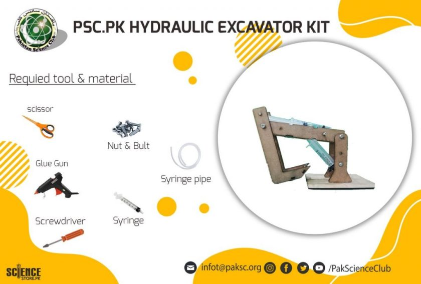 material and tool list HYDRAULIC EXACATOR