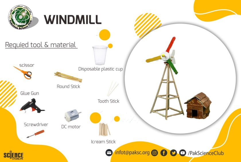 material and tool list WINDMILL.