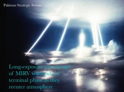 Long-Exposure Photograph of MIRV