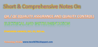 QC Aramco Standard Electrical and Instrument Question Answers
