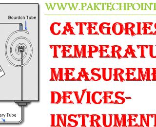 CATEGORIES OF TEMPERATURE MEASUREMENT DEVICES