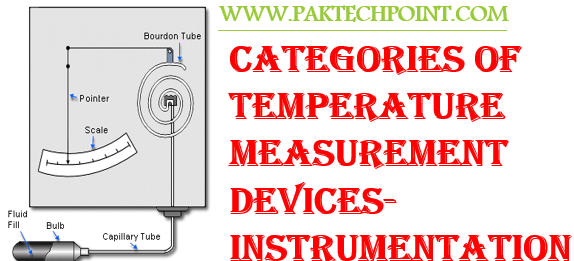 CATEGORIES OF TEMPERATURE MEASUREMENT DEVICES