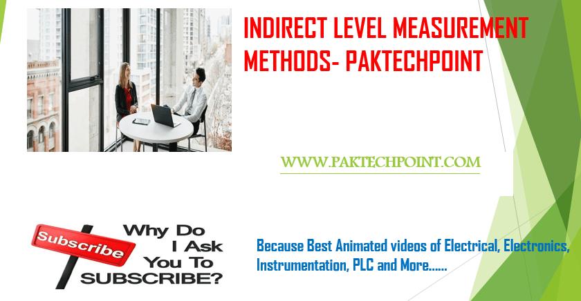 INDIRECT LEVEL MEASUREMENT METHODS