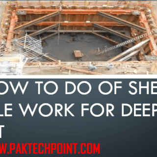 Sheet pile work for deep pit