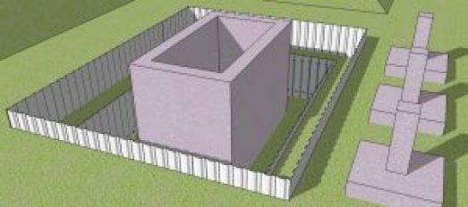 perimeter plan of pile sheet work
