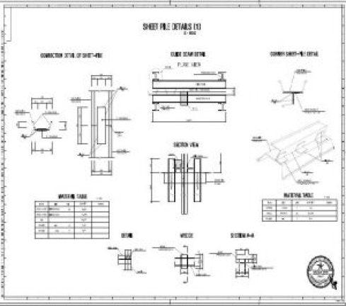 sheet pile details