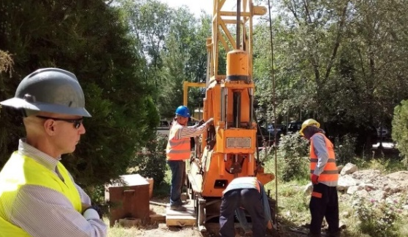 Drilling and Installation of Monitoring Wells