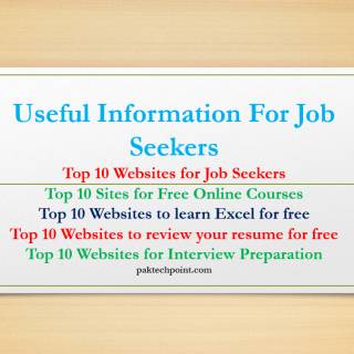 Useful Information For Job Seekers