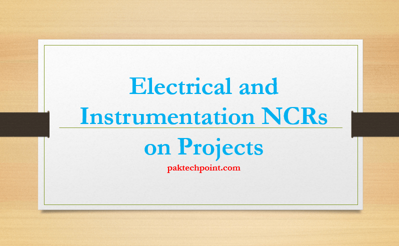 Electrical and Instrumentation NCRs on Projects, Conduit seal fittings installed where not required. conduit and instrument air piping