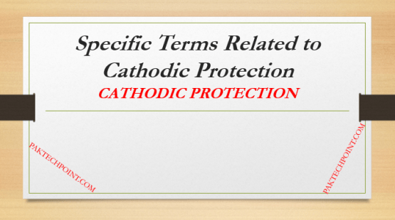 Specific Terms Related to Cathodic Protection