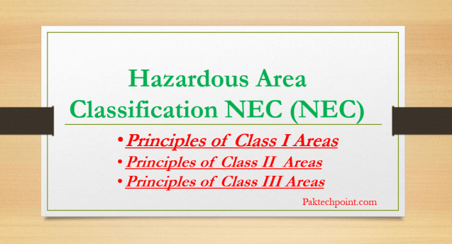 Hazardous Area Classification NEC