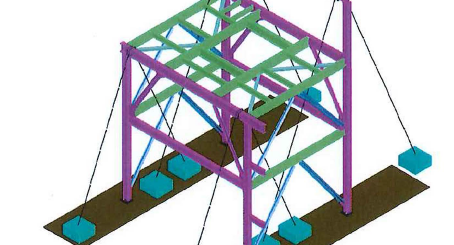 Erection of module structure