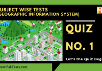 Geographic Information System (GIS) – Quiz 1