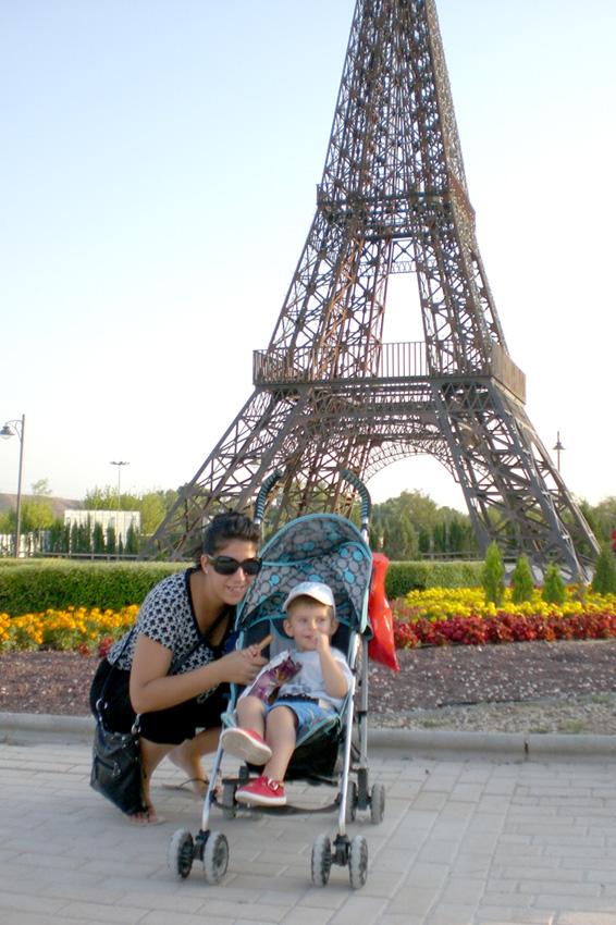 Laura con su hijo Gustavo