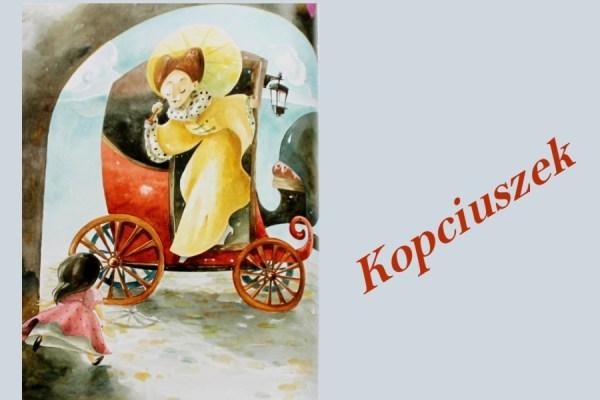 ilustracja zksiążki oKopciuszku itytuł baśni
