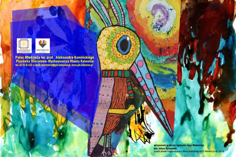 strona z katalogu z wyróżnioną pracą uczestniczki Pałacu Młodzieży