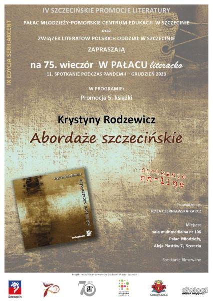 Plakat promujący spotkanie zKrystyną Rodzewicz
