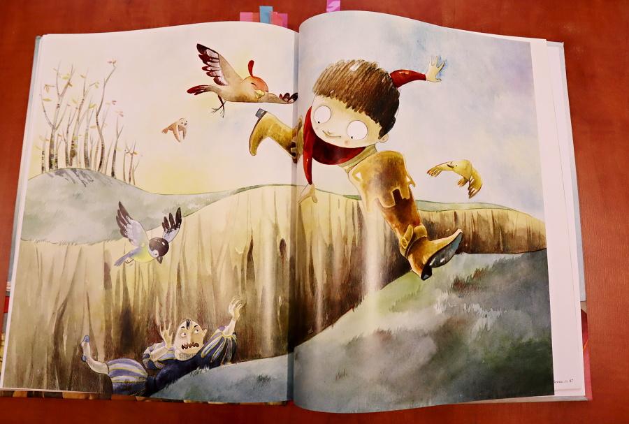 ilustracja z basni o Tomciu Paluchu