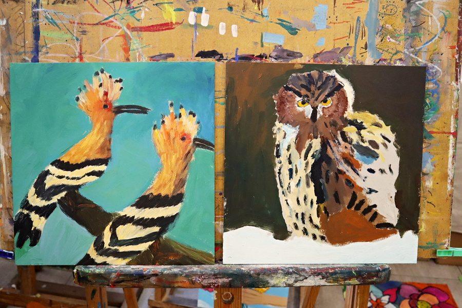 praca plastyczna przedstawiająca ptaka