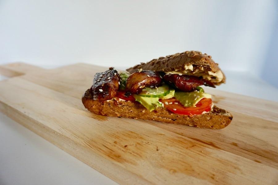 Recept broodje met vegan kip