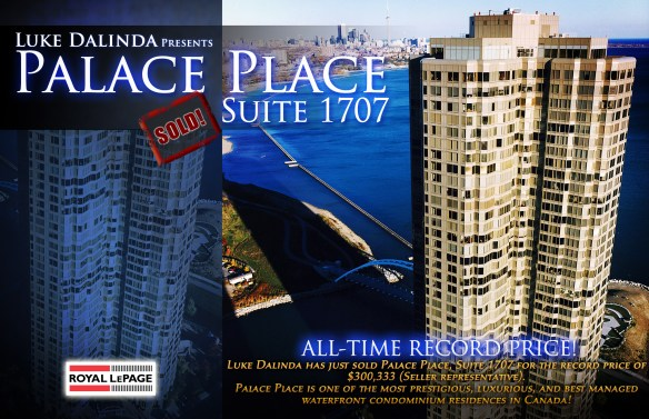 Palace Place 1 Palace Pier Court Suite 1707 SOLD by Luke Dalinda