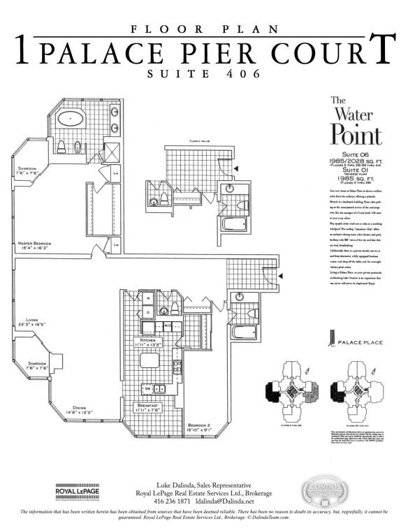 Palace Place 1 Palace Pier Court Suite 406 Floor Plan
