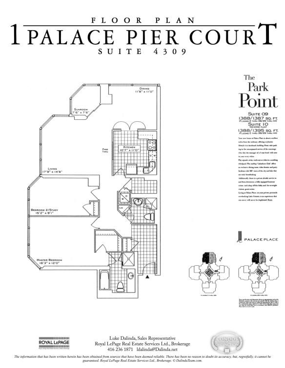 Palace Place 1 Palace Pier Court Suite 4309 Floor Plan