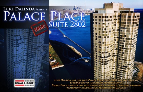 Palace Place Sold Card - PP 2802
